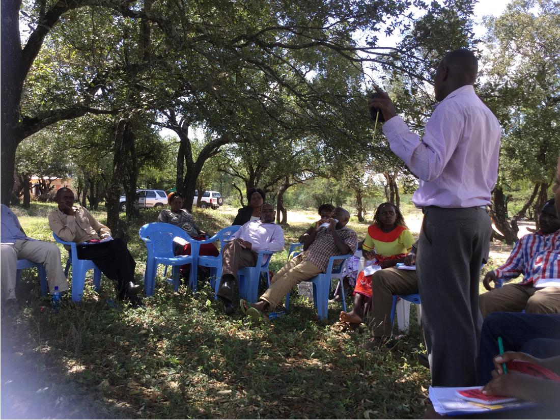 Community meetings in Kitui