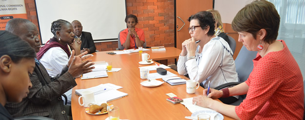 KNCHR Commissioner and other officials in a meeting with Embassy of Finland M.P and other officials