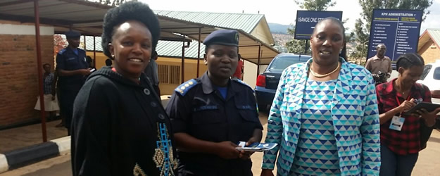 Inspector Shafiga Murebwayire of Isange One Stop Center and Madeleine Nirere,  Chair Rwanda Human Rights Commission