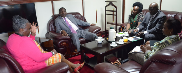 KNCHR commissioners pay a courtesy call to the Council of Governor's chairperson