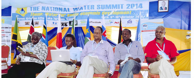 KNCHR Chair Ms. Kagwiria Mbogori (left) attends the National Water Summit held in Turkana County to deliberate on sustainable groundwater management in Kenya