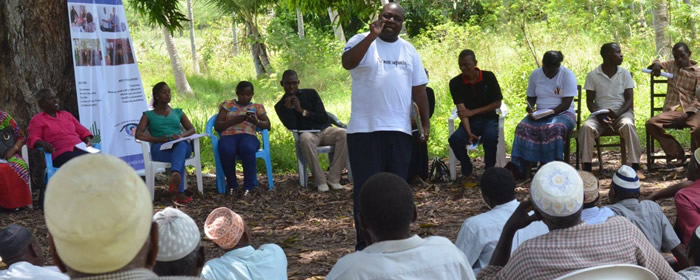 HRDs in a community session in Kwale